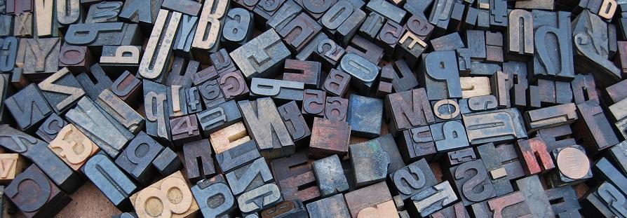 Photo of alphabet blocks used in typography