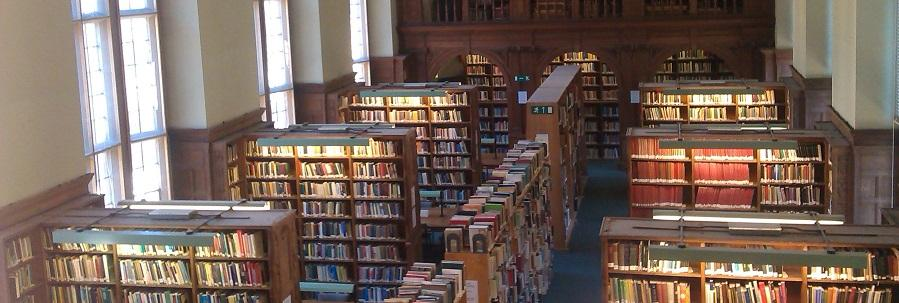 Photo of the interior of the Haddon Library